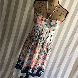 American Eagle watercolor sun dress